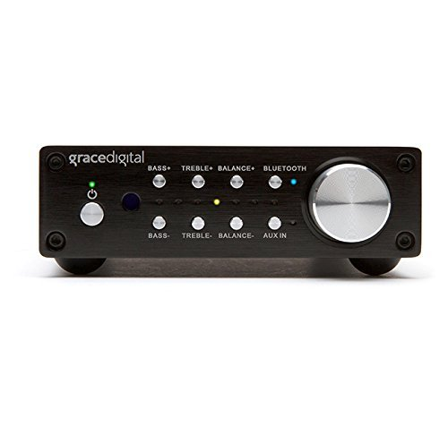 Grace Digital GDI-BTAR512 100-Watt Digital Integrated Stereo Amplifier with Built-In AptX Bluetooth Wireless Receiver (Black) by Grace Digital