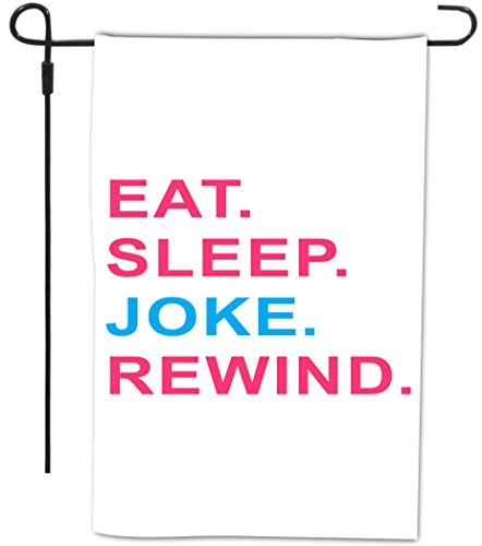 Rikki Knight Eat Sleep Joke Rewind Pink & Blue Design Dec...