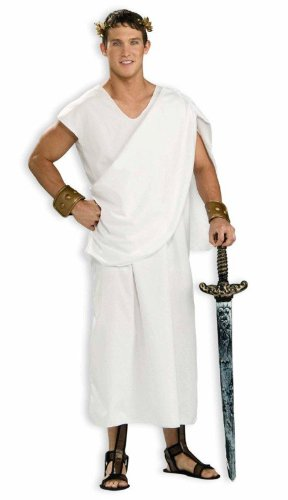 Price comparison product image Fun World Toga,  White,  UNISEX-Men up to 6 / 200 Lbs… Womne Size 4-14