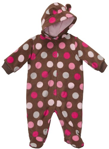 Carter's Out n About Pram - Polka Dots-Pink-3 Months