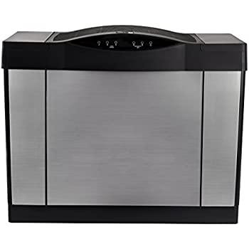 AIRCARE 4DTS 900 Digital Whole-House Console-Style Evaporative Humidifier, Brushed Nickel-Black