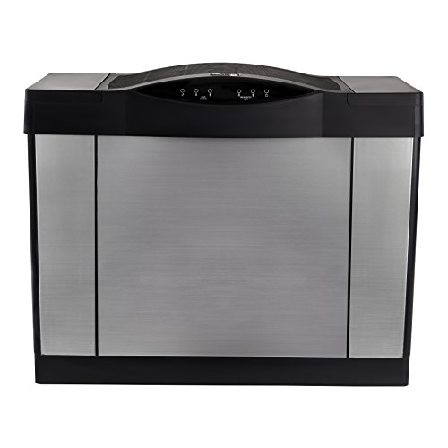 AIRCARE 4DTS 900 Digital Whole-House Console-Style Evaporative Humidifier, Brushed Nickel-Black by Essick Air