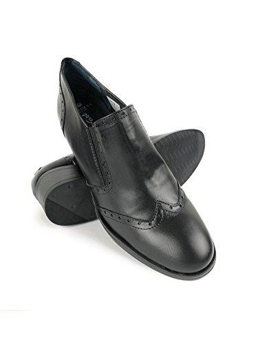 Zerimar Damen Leder Schuhe Bequeme Schuhe Frauen Schuh Weiches Leder Schuhe Lederschuhe Damen Schwarz56