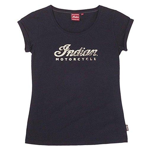 Indian Motorcycle New OEM Women's Black Logo Scoop Neck T-Shirt, L, 286375806