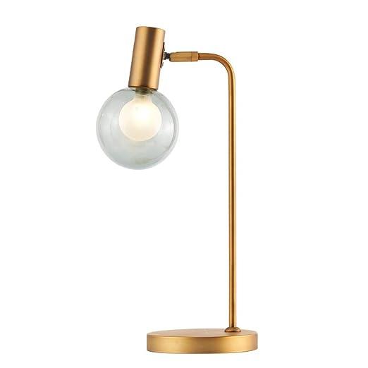 Lámpara de Mesa Simple y Creativo Latón Bombilla de Cristal Bola ...