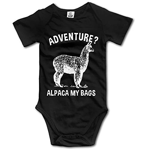 (Maliin Newborn Baby Outfit Creeper Short Sleeves Bodysuits - Adventure Alpaca My Bags)