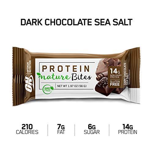 Optimum Nutrition Nature Bites Decadent Protein Snack, Dark Chocolate Sea Salt, 1.26 Pound