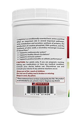 L Arginine Powder 4 OZ by Best Naturals 100% Pure Free Form Pharmaceutical Grade