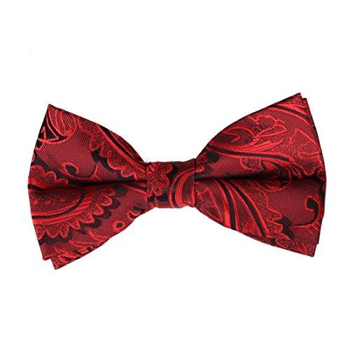 EBD1B03B Classic Microfiber Fantastic Designer Red Popular for Mens Patterned Pre-tied Bowtie Excellent Halloween Gifts By - Names Popular Designer