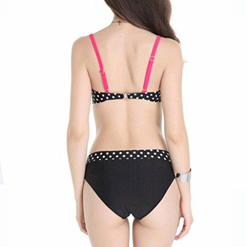 Traje de baño de las señoras Moda traje de baño de gran tamaño blanco y negro Spot Color spa traje de baño Split bikini Bikini Negro