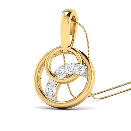 PC Jeweller The Belinha 18KT Yellow Gold   Diamond Pendant