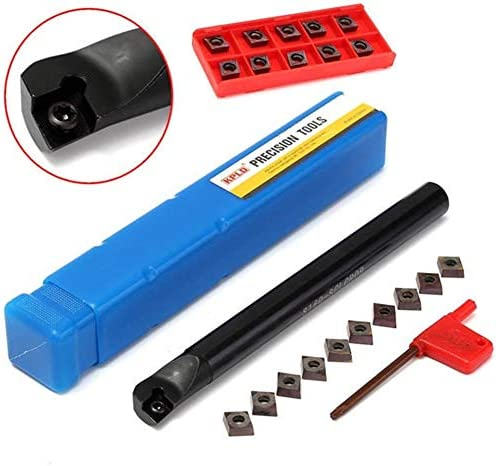 Qualitäts-CNC-Drehmaschine Werkzeug-Zubehör Lathe Bohrstange Drehwerkzeughalter mit 10 Stück CCMT09T3 Einsätze 16x180mm S16Q-SCLCR09