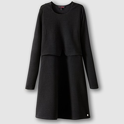 tom-tailor-womens-long-sleeved-dress-black-size-s