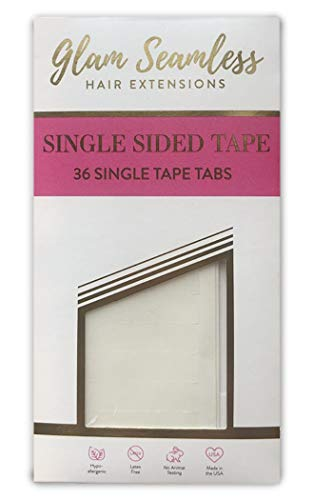 Single Sided Tape for Hair Extensions, Replacement Tape for Tape in Hair Extensions - 36 Tabs Pack
