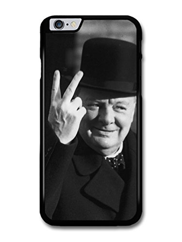 Winston Designer - Winston Churchill Two Fingers Peace Black and White Vintage Britain England case for iPhone 6 Plus 6S Plus