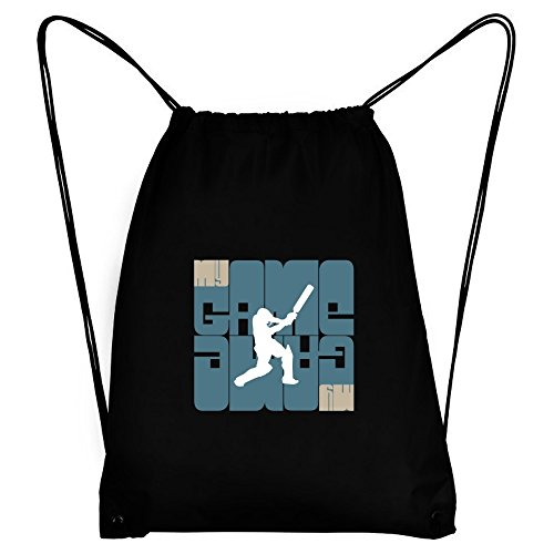Teeburon My Game Cricket Silhouette Sport Bag by Teeburon