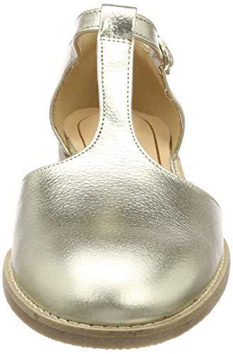 Sandalias Mujer Con Vertical Netley Para Fresh Clarks champagne Tira Plateado 6xEHn0