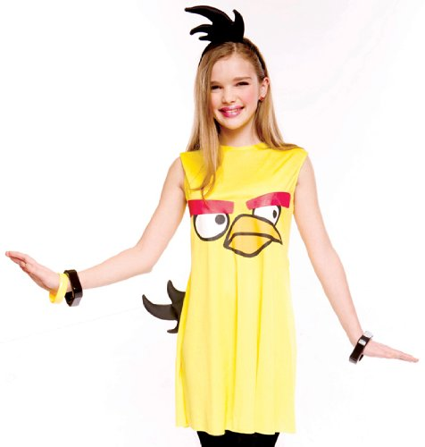 Paper Magic Teen Tween Junior Girls Angry Birds Yellow Bird Halloween Costume XL -