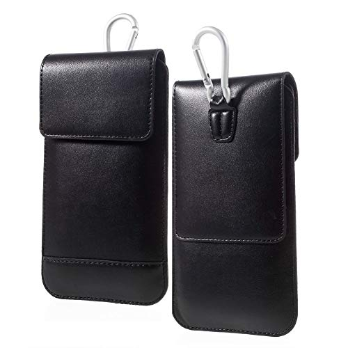 DFV mobile - Belt Case Cover Vertical Double Pocket for => Xolo HIVE 8X-1000 > Black ()