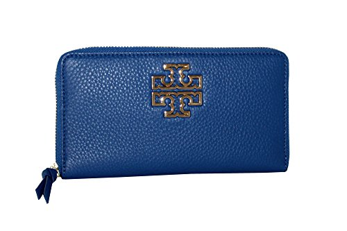 Tory Burch Britten Pebbled Leather Zip Around Continental Wallet by Tory Burch