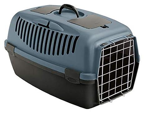 Stefanplast Hummelladen Caja de Transporte Gatos Box Box Perros y Gatos Caja de Transporte Auto Caja Gulliver 3 - Gris de Color Azul: Amazon.es: Productos ...