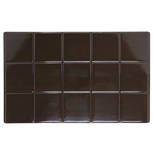 HUBERT Full Size Brown Melamine Solid Tile - 21