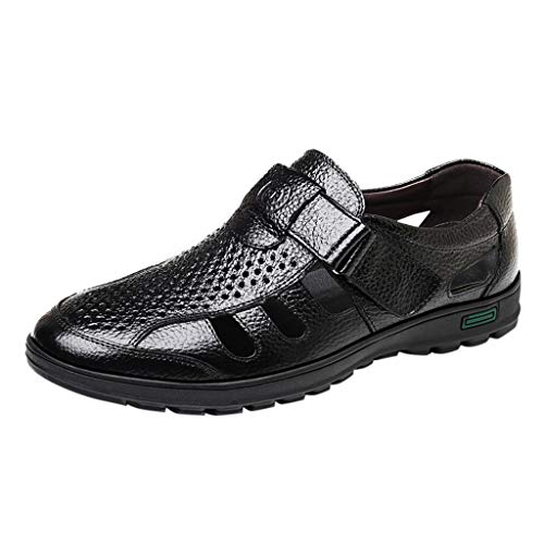 - YKARITIANNA Fashion Men's Summer Casual Hollow Breathable Sandals Business Casual Sandals Black