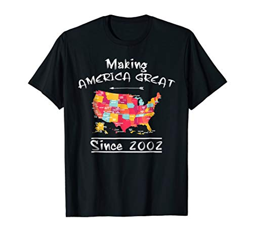 16 th Birthday Gifts Vintage 2002 Awesome Since 2002 TShirt -