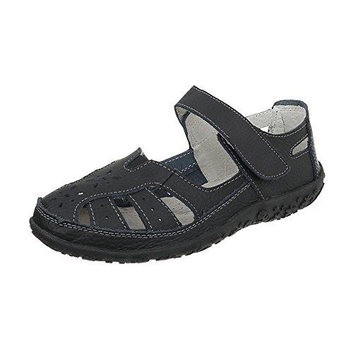 Zapatos para mujer Zapatos de tacon Plataforma Cuñas Ital-Design Schwarz 5009