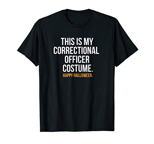 (Correctional Officer Costume funny Halloween Tee)