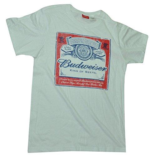 king-of-beers-budweiser-men-adult-tshirt-tee-distressed-white-short-sleeve-small