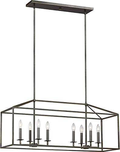 Sea Gull Lighting 6615008-782 Perryton Eight-Light Island Pendant Hanging Modern Light Fixture, Heirloom Bronze Finish (Pendant Light Carriage)
