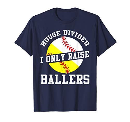 Funny Baseball Softball Divided House Shirt