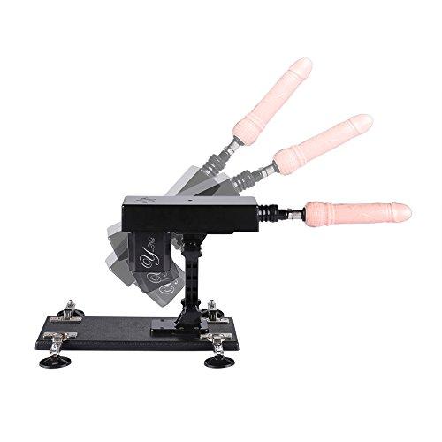 Y-Not Automatic Sex Machine Auto Love Machine Multispeed Masturbator Adjustable Thrusting 7'' Dildo (Black) by Y-Not (Image #3)