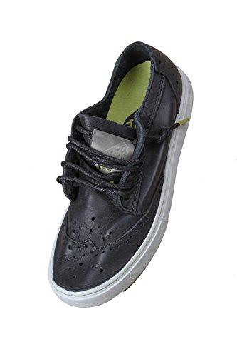 pelle lacci derby Yukai 161023 SATORISAN uomo Black scarpe nero inglese black Yazq6wqx8