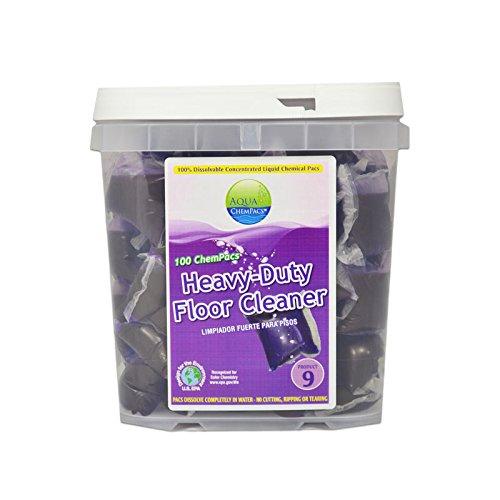 Image of All-Purpose Cleaners Aqua ChemPacs AQ114 Simoniz Heavy-Duty Floor Cleaner, 4 x 100/Tub (Pack of 400)