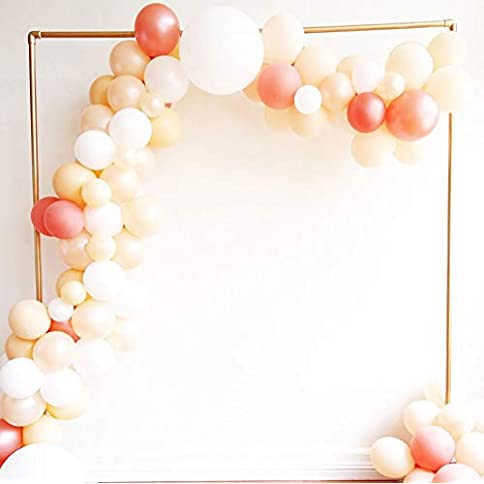 - 41Mp4WYYfxL - Balloon Garland Arch Kit, 100PCS 10Inch Balloon Garland Including Blush Pearl, Blush, Pink, Rose Gold & White Assorted Balloons Decorations Backdrop Ideal for Wedding Birthday Baby Shower Bridal Party Decorations