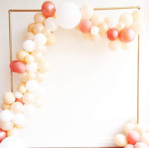 Balloon Garland Arch Kit, 100PCS 10Inch Balloon Garland Including Blush Pearl, Blush, Pink, Rose Gold & White Assorted Balloons Decorations Backdrop Ideal for Wedding Birthday Baby Shower Bridal Party - White Assorted Balloon
