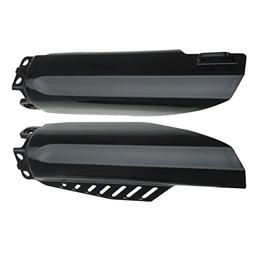 Acerbis Lower Fork Cover Set Black - Fits: Honda CRF150R Expert 2007-2009