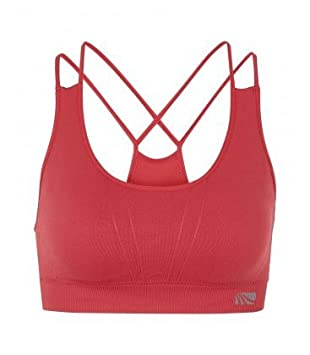 dcafe1a5d672e Jackie (by Marika) Women s Bra Seamless Double Strap Sports Bra - red - M