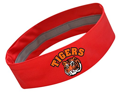 Clemson Tiger Mascot Costume (TIGERS Team School Mascot No Slip Silicone Lined Sport Headband by Funny Girl Desgins (RED))