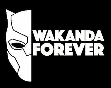 Wakanda forever black panther decal vinyl stickercars trucks vans walls laptop white