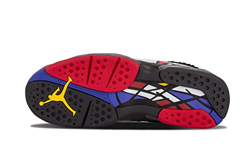 Nike Jordan Mænds Air Jordan 8 Retro Basketball Sko Blk / Vrsty Rd-hvid-brght Cncrd zAieK