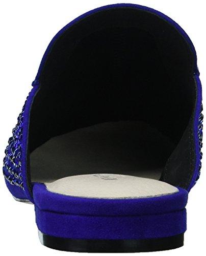Kenneth Cole New York Womens Walden Shine Glitzy Slip Loafer Flat Electric Blue