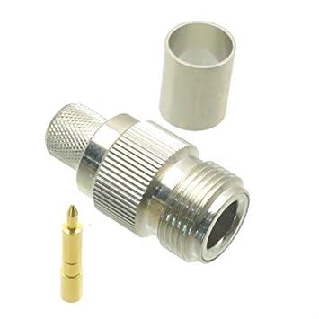 1Pce RP-N hembra enchufe Crimp RG8 LMR400 RG165 RG213 RF Conector