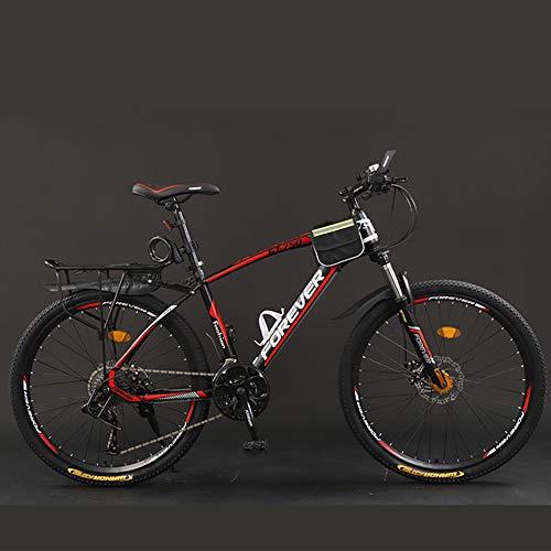 CJF Volwassen mountainbike 26 inch buitenfietsen met dubbele schijfremmen voor volwassenen, mannen, vrouwen (21-snelheid…