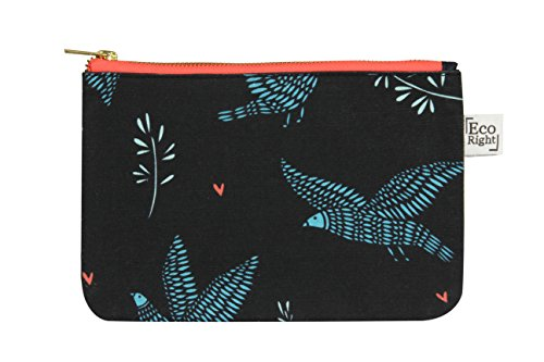 EcoRight 100% Ecofriendly Make up Travel bag Pouch for women cosmetic Toiletry canvas -