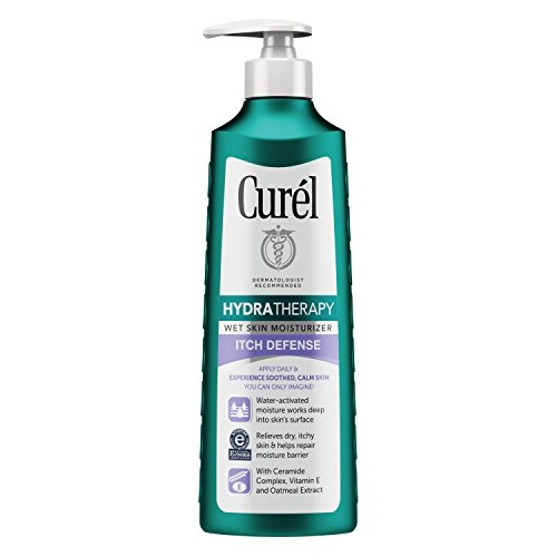 Curél Hydra Therapy, Itch Defense Moisturizer, 12 Ounce Wet Skin Lotion, with Advanced Ceramide Complex, Vitamin E, and Oatmeal Extract. Helps to Repair Moisture Barrier