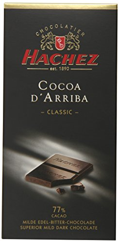 Hachez Cocoa D' Arriba Chocolate Bar, Classic, 3.5 Ounce