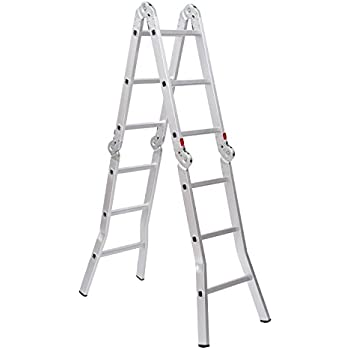 Light Weight Multi Purpose 12 Aluminum Ladder 300 Lb